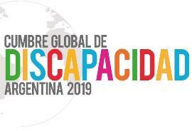 """Logotipo recortado de la segunda """"Cumbre global de discapacidad"""""""