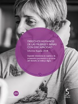 """Portada de """"Derechos Humanos de las Mujeres y Niñas con Discapacidad. Informe España 2018"""""""
