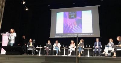 """Momento de la presentación de la guía """"Niñas y mujeres con discapacidad víctimas de violencia machista. Pautas de intervención"""""""