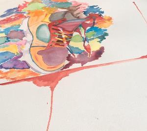 Obra de María Eugenia Aceves, artista mexicana con discapacidad