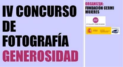 """Detalle del cartel de IV Concurso de Fotografía Generosidad """"Empoderando a las niñas con discapacidad para el disfrute de una vida libre de violencia"""""""