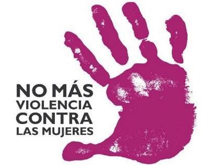 """Logotipo de """"No más violencia contra las mujeres"""""""
