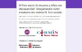 """Detalle de la inscripción al """"III Foro social de mujeres y niñas con discapacidad"""" de Pamplona organizado por FCM y CERMIN"""