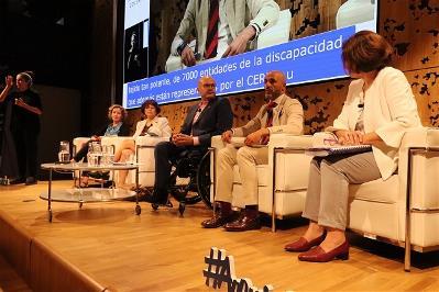 Momento en las Jornadas Derechos de las Mujeres con Discapacidad y Agenda 2030 de Cocemfe