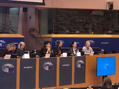 La vicepresidenta ejecutiva de la Fundación CERMI Mujeres (FCM) y vicepresidenta del Foro Europeo de la Discapacidad (EDF, por sus siglas en inglés), Ana Peláez Narváez en su intervención