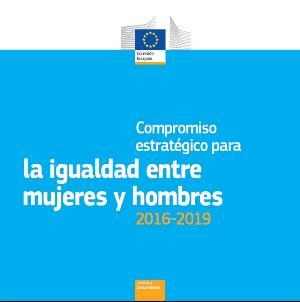 Portada del documento 'Compromiso estratégico para la igualdad entre hombres y mujeres 2016-2019'