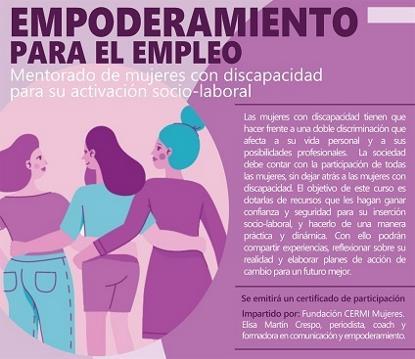 Cartel de empoderamiento para el empleo