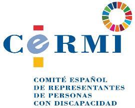 Logotipo del CERMI con el logo añadido de los ODS