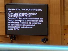 Respaldo casi unánime en el Senado a la propuesta de ley para acabar con las esterilizaciones forzosas de personas con discapacidad