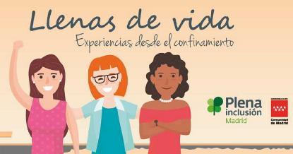"""Ilustración del ciclo de encuentros digitales """"Llenas de vida"""" Experiencias desde el confinamiento"""