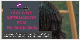 Cartel de los webinarios de la Fundación CERMI Mujeres