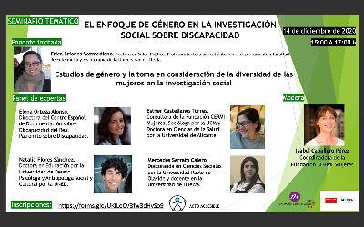 La Fundación CERMI Mujeres reclama que la investigación social tenga en cuenta la perspectiva de las mujeres con discapacidad