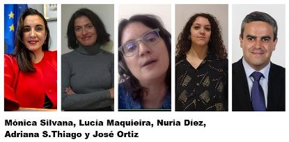 Algunos de los participantes en el conversatorio: Mónica Silvana, Lucía Maquieira, Nuria Díez, Adriana S.Thiago y José Ortiz