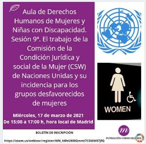 Fundación CERMI Mujeres destaca el trabajo de la comisión de la Condición Jurídica y Social de la Mujer de Naciones Unidas (CSW) y su importancia para las mujeres y niñas con discapacidad