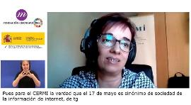 Pilar Villarino durante en conversatorio