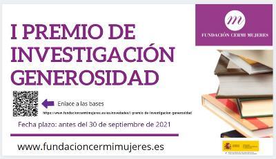 Cartel de la convocatoria del I Premio de Investigación 'Generosidad'