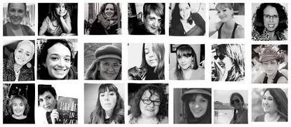 Collage de fotografías de mujeres