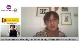 Momento del XI Conversatorio de la Fundación CERMI Mujeres organizado con Servimedia